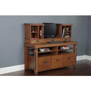 American Furniture Classics Industrial Collection Credenza Console and Hutch Bundle|https://ak1.ostkcdn.com/images/products/12337773/P19168366.jpg?impolicy=medium