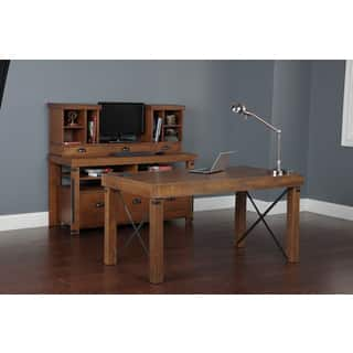 Complete Home Office from American Furniture Classics. Includes Industrial Collection Desk, Credenza Console, and Hutch.|https://ak1.ostkcdn.com/images/products/12337817/P19168403.jpg?impolicy=medium
