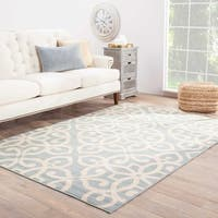 Maison Rouge Langston Indoor/Outdoor Medallion Blue/Cream Area Rug - 7'11 x 10'