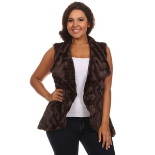 Hadari Women's Plus Size Sleeveless Cardigan