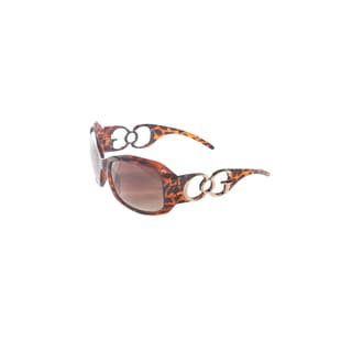 Hadari Women's Leopard Print Rectangular Sunglasses 100% UV400 Non-Polarized