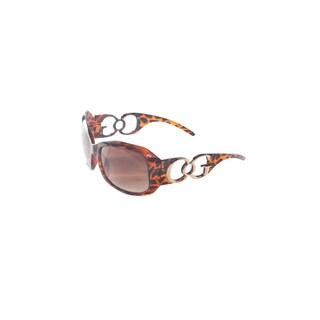 Hadari Women's Leopard Print Rectangular Sunglasses 100% UV400 Non-Polarized