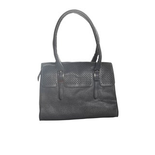 Hadari Women's Double Hanlde Black Tote Bag with 4 internal pockets and 1 exterior pocket