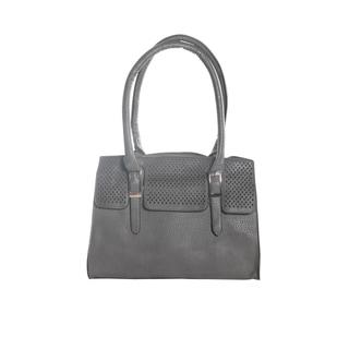 Hadari Women's Double Hanlde Grey Tote Bag with 4 internal pockets and 1 exterior pocket