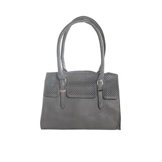 Hadari Women's Double Hanlde Grey Tote Bag with 4 internal pockets and 1 exterior pocket