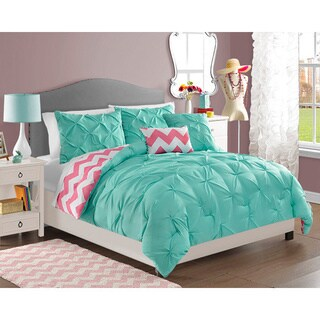 VCNY Chelsea 4-piece Reversible Full/Queen Size Comforter Set in Turquoise (As Is Item)