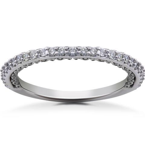 14k White, Yellow & Rose Gold 1/4ct TDW Eco-Friendly Lab Grown Diamond Wedding Ring