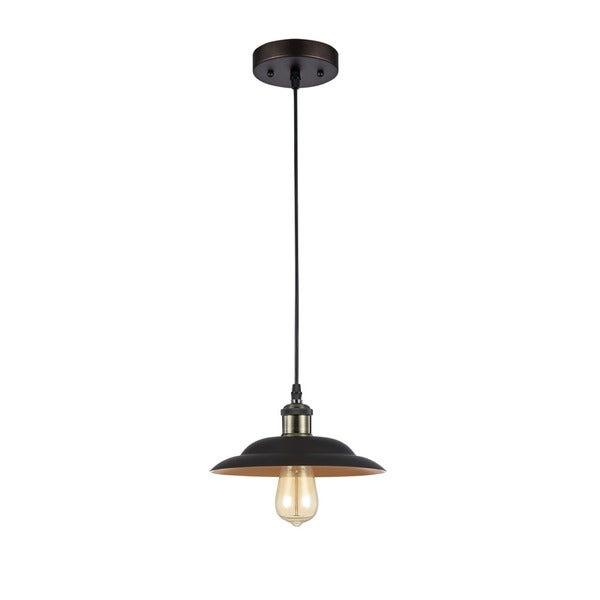 Chloe Industrial 1-light Oil Rubbed Bronze Pendant