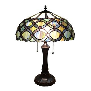 Chloe Tiffany Style Victorian Design 2-light Dark Bronze Table Lamp