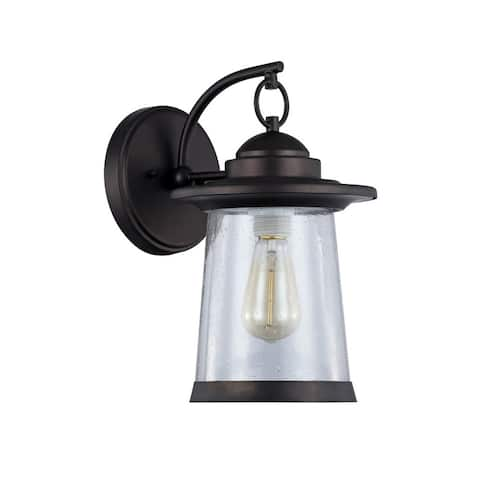 Transitional 1-light Oil Rubbed Bronze Outdoor Wall Sconce