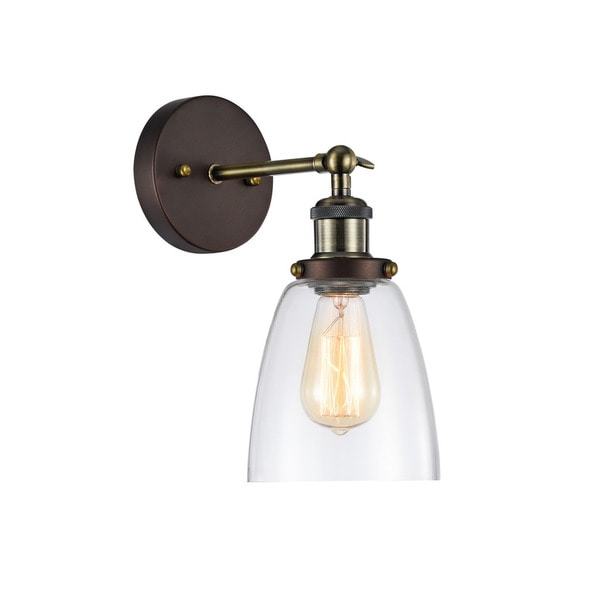 Shop Chloe Industrial Light Oil Rubbed Bronze Wall Sconce On - Bathroom sconce lighting oil rubbed bronze