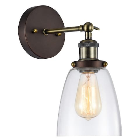 Industrial 1-light Oil Rubbed Bronze Wall Sconce