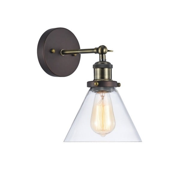 Chloe Industrial 1 Light Oil Rubbed Bronze Wall Sconce
