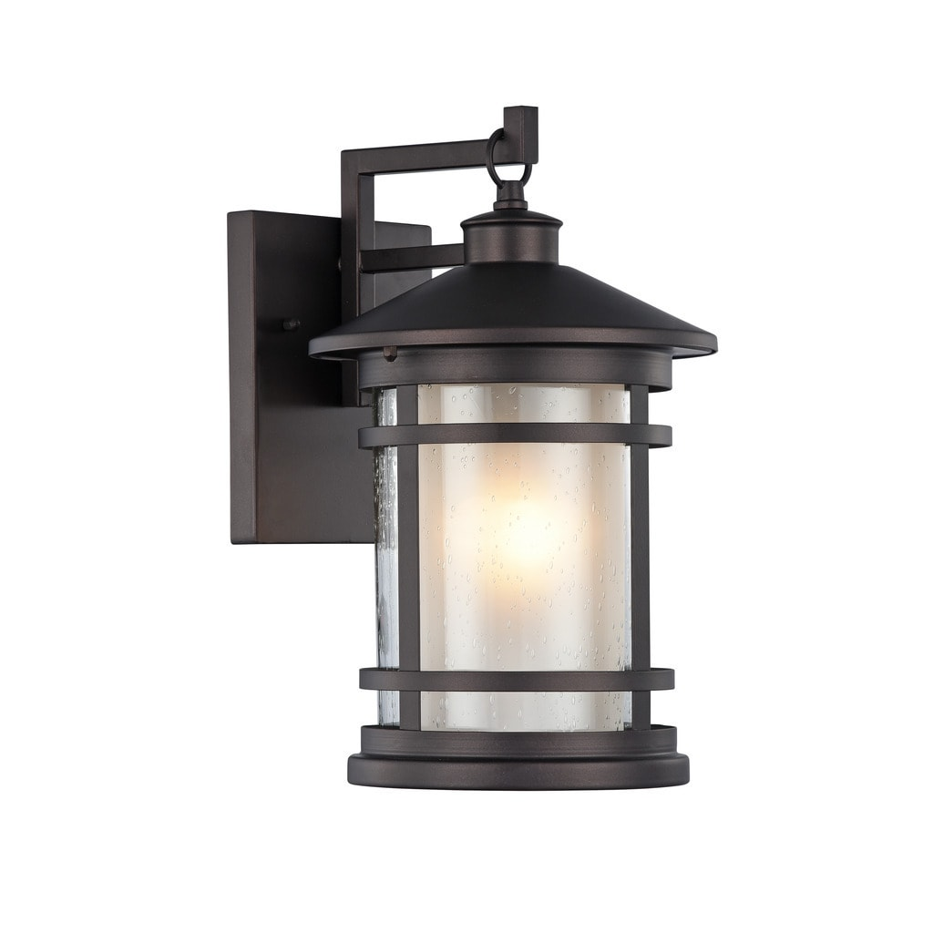 Transitional 1 Light Oil Rubbed Bronze Outdoor Wall Sconce
