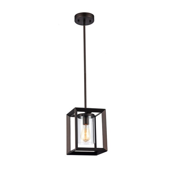 Chloe Industrial 1 Light Oil Rubbed Bronze Pendant Free