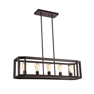 Pine Canopy Payette Industrial 5-light Oil Rubbed Bronze Pendant