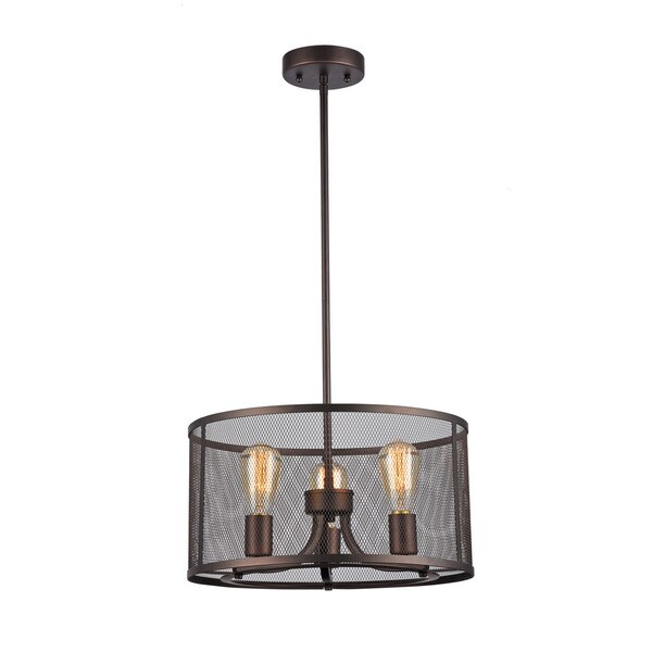 Chloe Industrial 3-light Oil Rubbed Bronze Pendant