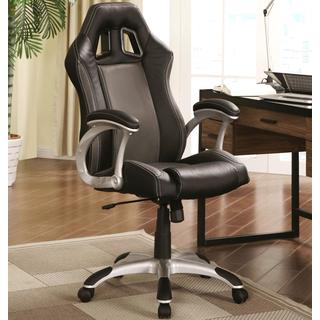 Sport Car Design Black/ Grey Adjustable Swivel Gaming Office Chair