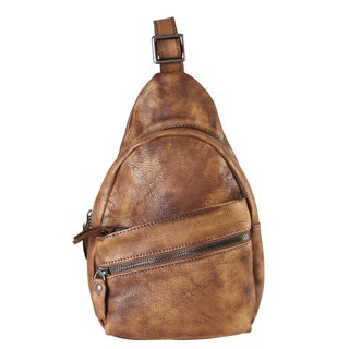 Rimen & Co. Genuine Leather Fashion Sling Backpack