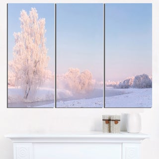White Crystal Tree and Landscape - Landscape Print Wall Artwork