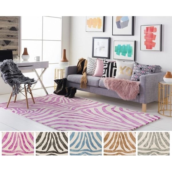 Hand-Tufted Villa Wool Rug - 4' x 6'