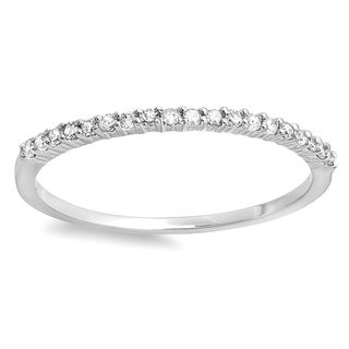 Elora 18k Gold 1/6ct TDW Round Diamond Anniversary Wedding Band Stackable Ring (I-J, I2-I3)
