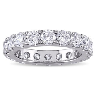 Miadora Signature Collection 14k White Gold 3 1/2ct TDW Diamond Eternity Ring