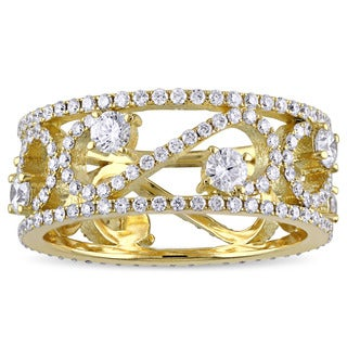 Miadora Signature Collection 18k Yellow Gold 1 3/4ct TDW Diamond Eternity Ring