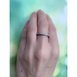 Miadora Signature Collection 14k White Gold 2/5ct TDW Diamond Eternity Ring