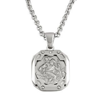 Stainless Steel St. Christopher Necklace