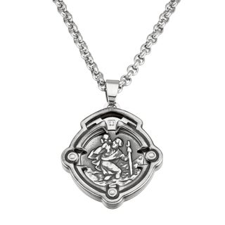 Stainless Steel Religious Pendant Cross Necklace