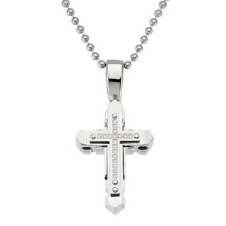 Silver-colored Stainless Steel Cross Necklace