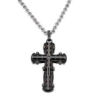 Silver Stainless Steel Cross Necklace