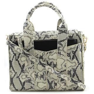 Steve Madden Women's 'Bstructr' Snakeskin Print Handbag
