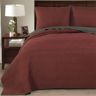 Brielle Honeycomb Reversible 3-piece Quilt Set