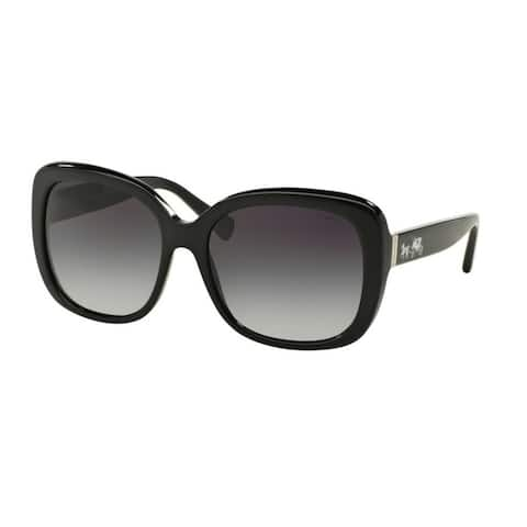 Coach HC8158 L139 500211 Black Womens Plastic Square Sunglasses