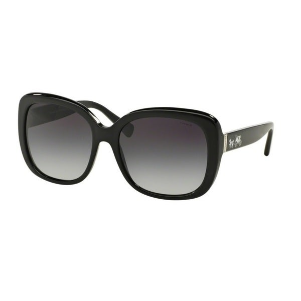 0312e2bec3c Shop Coach HC8158 L139 500211 Black Womens Plastic Square Sunglasses - Free  Shipping Today - Overstock.com - 12342911