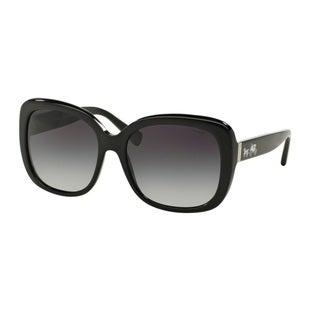 Coach HC8158 L139 500211 Black Womens Plastic Square Sunglasses