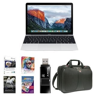 Apple MacBook MLHA2LL/A 12-Inch Laptop with Retina Display 256GB Bundle - Silver