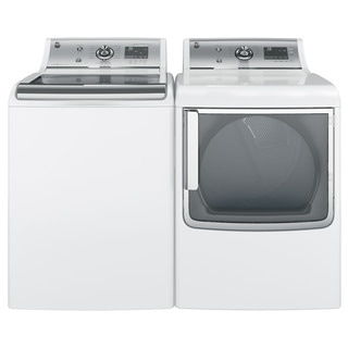 GE White Washer and Gas Dryer Set