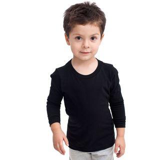 American Apparel Fine Jersey Boys' Black Long-sleeve T-Shirt