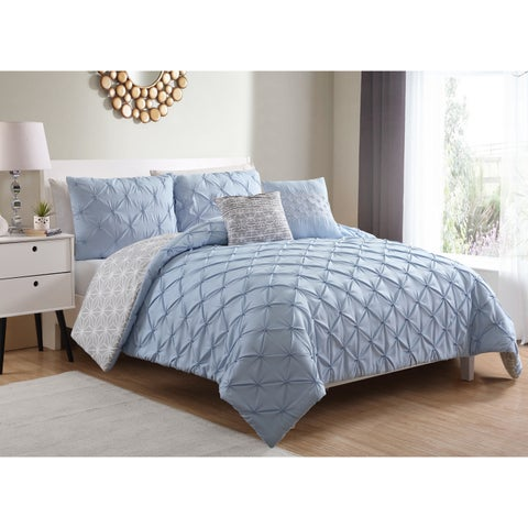 The Curated Nomad Joaquin Pintucked 5-piece Reversible Comforter Set