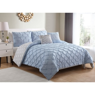 VCNY Ziva Pintucked 5-piece Reversible Comforter Set