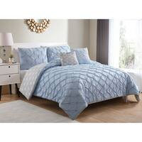 Carbon Loft Langley Pintucked 5-piece Reversible Comforter Set