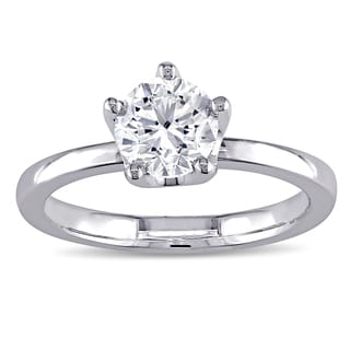 Miadora Signature Collection 14k White Gold 1ct TDW Center Solitaire Engagement Ring