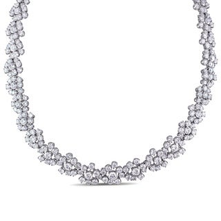 Miadora Signature Collection 18k White Gold 53 4/5ct TDW Diamond Flower Cluster Necklace|https://ak1.ostkcdn.com/images/products/12343156/P19172574.jpg?_ostk_perf_=percv&impolicy=medium