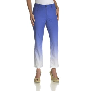 Caribbean Joe Women's 5-pocket Ombre Twill Capri