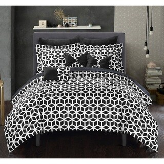 Porch & Den Red Cliff Black 10-piece Bed in a Bag Comforter with Sheet Set
