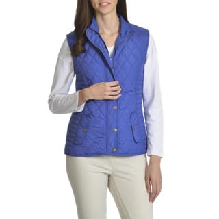 Caribbean Joe Women's Quilted Vest|https://ak1.ostkcdn.com/images/products/12343188/P19172599.jpg?impolicy=medium
