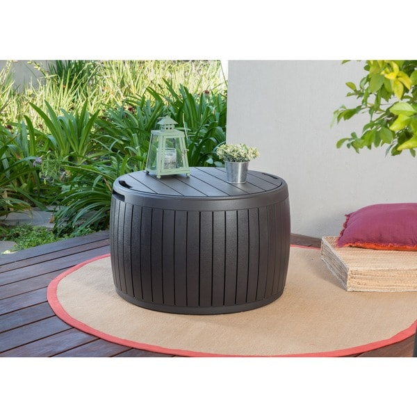 Keter 37 Gal. Circa Natural Wood Style Round Outdoor